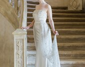 TRESOR   Couture crystal embroidered wedding train