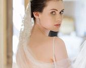 J'TAIME   Crystal silk embroidered cap wedding veil
