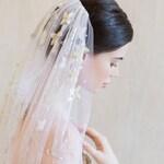 DES FLEURS   Silk Floral Veil