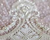VERSAILLES   Couture crystal long tulle wedding cape