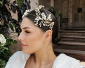 PERSEPHONE   Opal pearl bridal headpiece