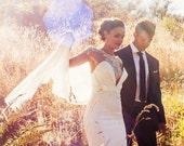 LAKSHMI   Luxury pearl & silk wedding cape veil