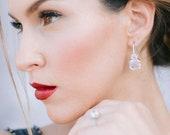 ASTOR   Fine diamond asscher drop earrings