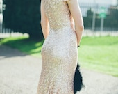 BACALL | Champagne Gold Hollywood Wedding Gown