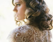 DREAMWEAVER   Sheer floral vine bridal cape
