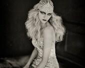 LUJON   Couture crystal tulle headpiece
