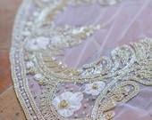10 % off JOIE | Crystal silk flower edge wedding veil