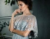 10 % off LUMIERE | Delicate beaded bridal cape