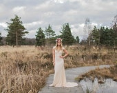 BACALL   Blush Bohemian Wedding Gown