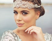 OPHELIA | Crystal Lace Headpiece