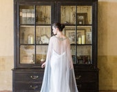 10 % off VERSAILLES | Couture crystal long tulle wedding cape