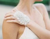 End of Line 50% SALE | LUNA | Silk Organza Crystal Cuff