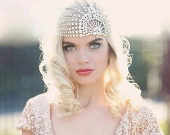 LUJON | Couture crystal tulle headpiece