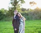 DE HAVILLAD   Old Hollywood Wedding Gown