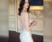 10 % off VALENTINA | Intricate moonstone flower pearl wedding headpiece