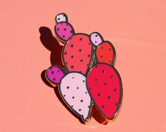 Cactus Pin.Enamel Pin.Cacti Pin.Pink Cactus.Cactus Art.Arizona Pin. Arizona Art.Pink Cacti.Pink Enamel Pin.Artist Pin.Watercolor Pin