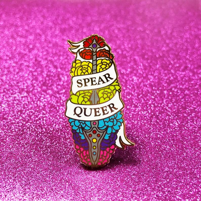 Spear Queer Enamel Pin