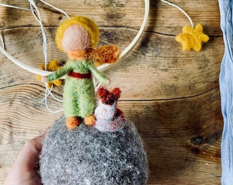 Mobile 'little prince' felted