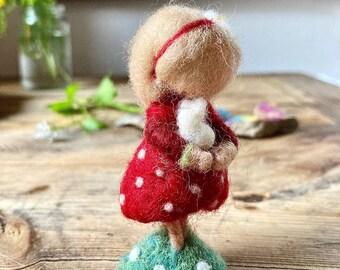 Strawberry girl needle felted