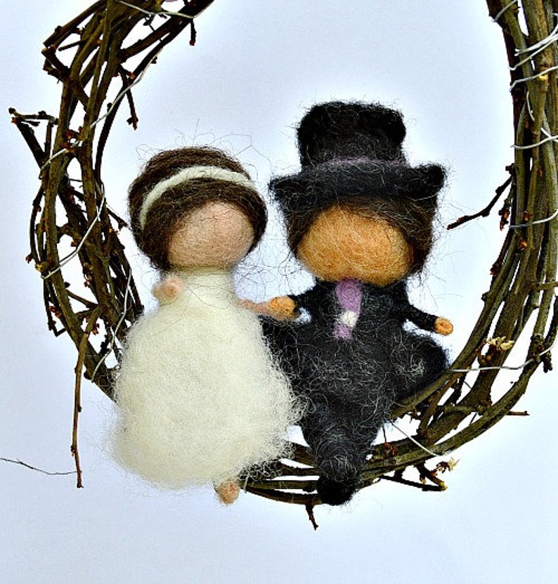 Bridal couple-felt wedding pair image 0