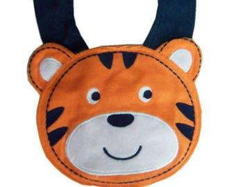 Baby bib pattern Tiger