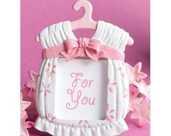 Baby girl pink dress photo frame