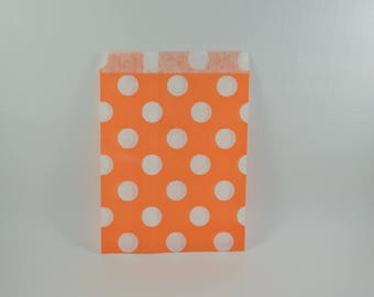 8 pattern with orange dots paper bags
