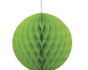 Hanging honeycomb ball dimpled Green 20cm
