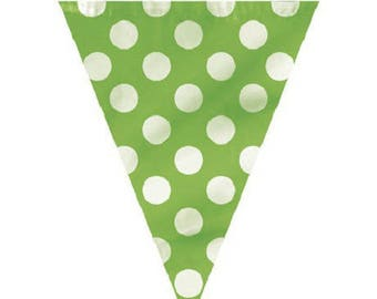 Garland banner flags pattern dot 3.65 m