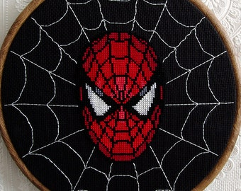 Spiderman Cross Stitch Pattern