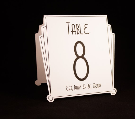 Art Deco Table Numbers Perfect For Gatsby Weddings Roaring 20s Parties Or Any Special Occasions