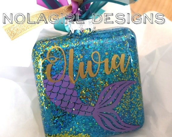 Mermaid Christmas Ornament, Personalized Ornament, Mermaid Teen Gift, Mermaid Tail, Just because gift, Mermaid Tails, Birthday Party Favor