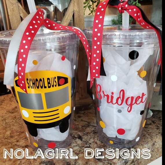 Bus Driver gift, School Bus Driver Gift, Drink tumbler,  personalized Gift, Yellow School Bus Gift, Teacher Gifts, School Gift for him, Bus
