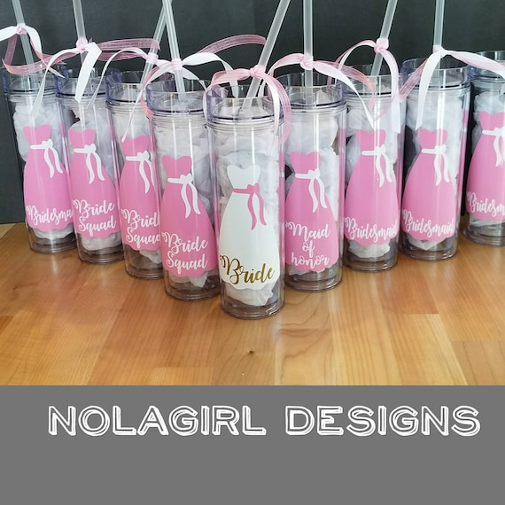 Bridesmaid Tumbler, personalized gift, Wedding  party Gift, Bachelorette Party, Wedding Tumbler with dress design, Custom colors,  momento