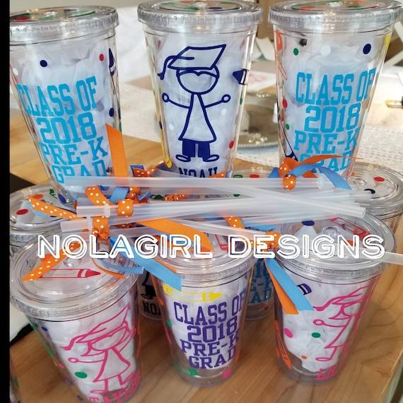 Kindergarten Graduation gift, Pre-K graduation gift, drink holder, Class of 2020, Gift for kids, Colorful Drink Cup, Crayon, scissors, ruler
