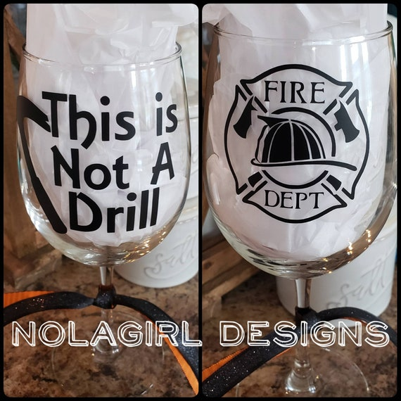 This is not a drill wine glass, Gifts for men, Funny wine glass, Handy Man, Hammer, Note a Drill, Father's Day Gifts, Birthday for men, guys