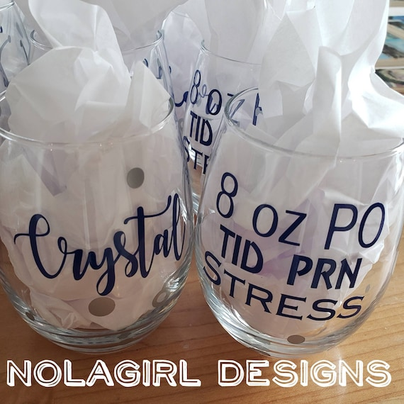Nurse Appreciation Gift, Personalized Nurse wine glass, Graduation Gift for Nurse,Emergency Room Nurse, Nurses Rock Gift, Wine Glasses, RN
