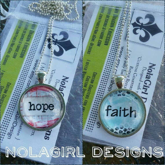 Necklace Jewelry, Hope, Faith, Church gifts, Life Group Jewelry, Sunday School Teacher Gift, Teen Group Gift, Fun Necklace, Christmas Gifts