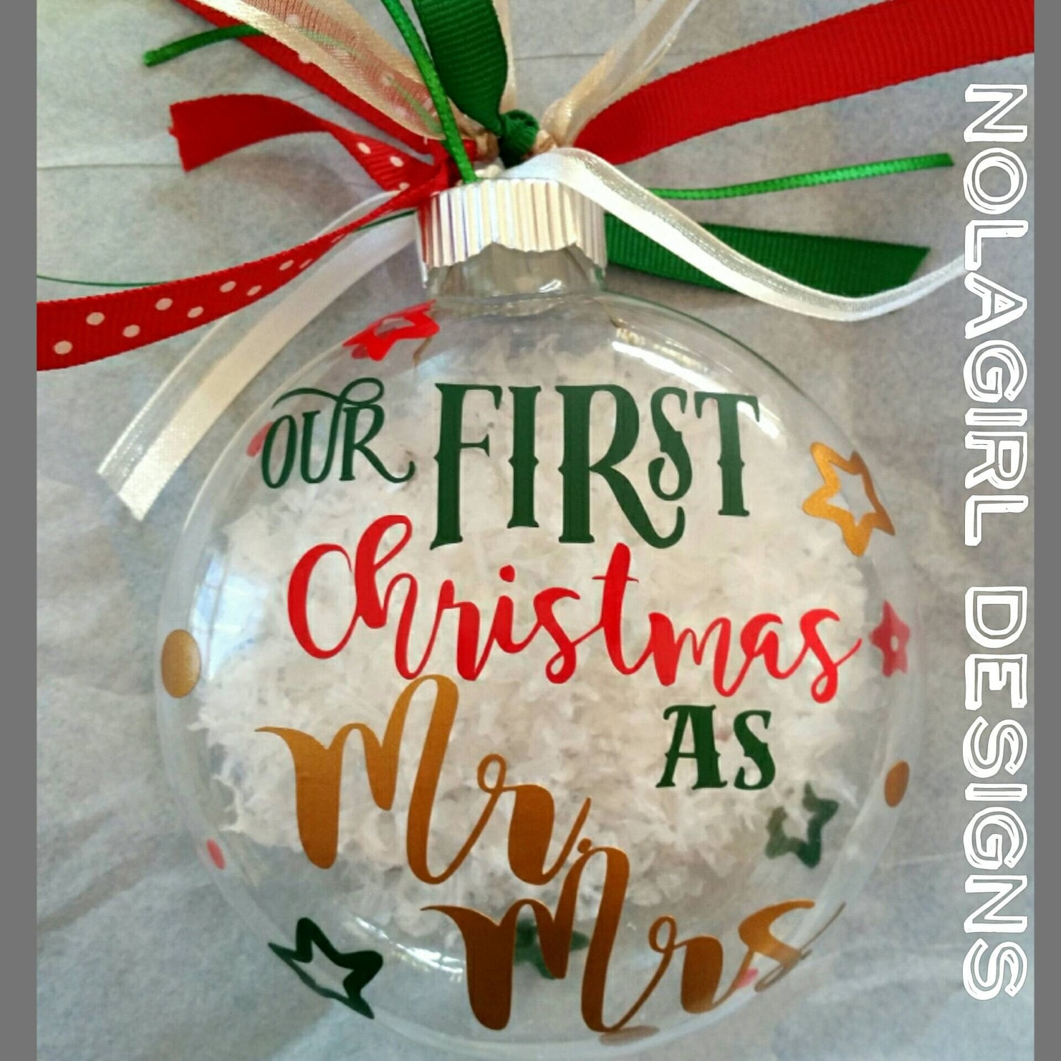 Our First Christmas Ornament, Wedding Christmas Ornament ...