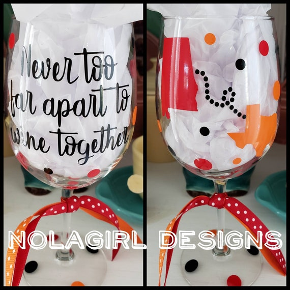 Best friend long distance gift, Never too far to wine together, Long Distance Friendship, Deployment gift, Deployment, Mother Daughter, sis