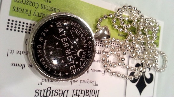 New Orleans Water Meter Necklace, Jewelry, NOLA Jewelry, New Orleans Necklace, Water Meter Charm, NOLA Gift, Ladies, Teens, Tween birthday