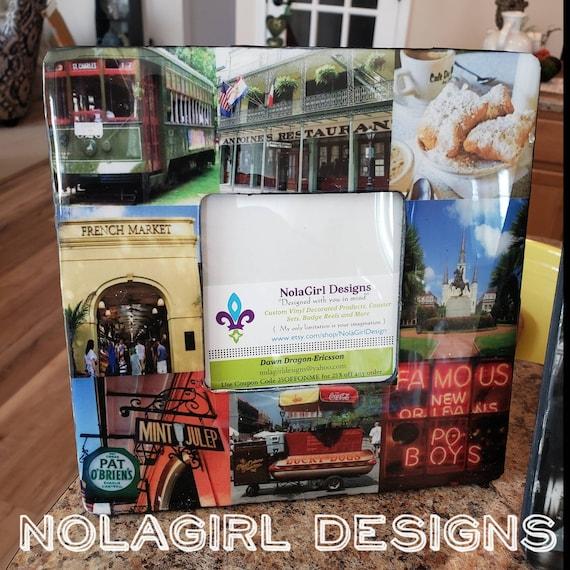 New Orleans Frame, Custom Design Frames, Home decor, Custom frame Wooden, Housewarming gift, personal photos, Design your own, Wedding gift