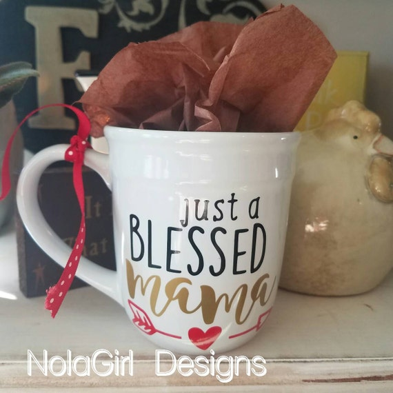 Blessed Mom coffee Cup, personalized mug, monogram cups, Coffee lover mommy Gift, Valentine's, Gift for her, nana, custom designs, Mothers