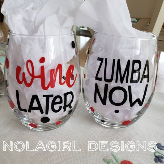 Gym wine glass, Yoga Wine Glass, Weight lifting wine glass, fitness gift, Jazzercise wine, Workout partner, Personal Trainer, Zumba gift