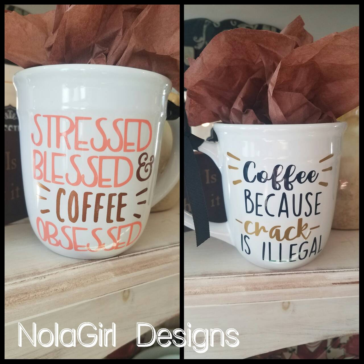 Blessed Mom Coffee Cup Personalized Mug Monogram Cups