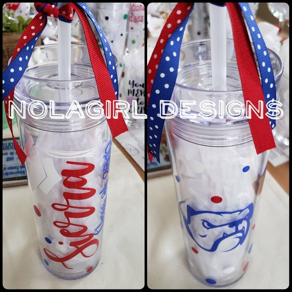 Class Of  2020 Graduation Gift, Personalized drink Tumbler, Grad Gift, incoming senior class, School colors and mascot, class of 2021, fun