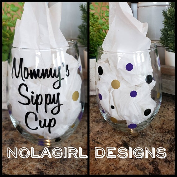 Mommy's Sippy Cup Wine Glass, personalized glass, ladies gifts, Mothers Day, Mommy's Time Out, Mommy to be, shower gift, Gift for her, moms