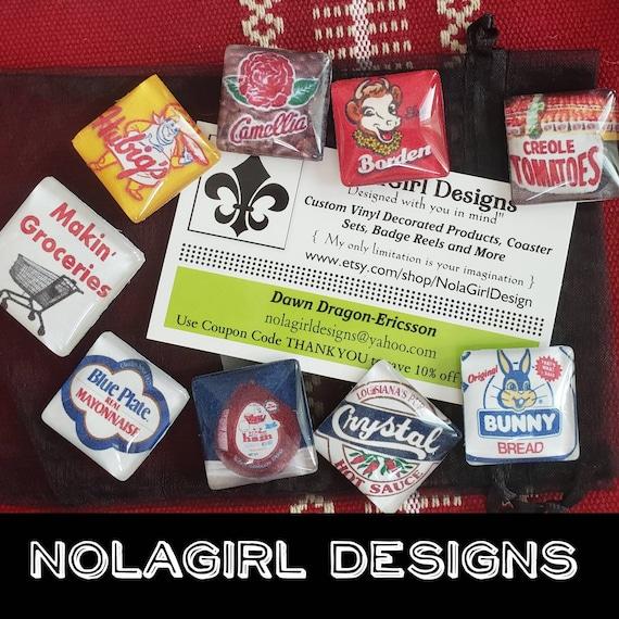 New Orleans food Magnet Set, Makin Groceries magnet set, Retro New Orleans Food Magnet Set , Makin Groceries,Southern Food Magnets,Red Beans