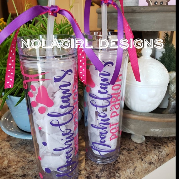 Dog Groomer gift, groomer cup, personalized drink tumbler, best groomer, pet groomer gifts, skinny tumbler, custom designed gift, #1 groomer