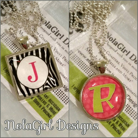 Initial Necklace for Girls, Teen Jewelry, Necklace, Zebra monogram, Tween girl, Alphabet letter charm,  Teen birthday gift, Teen Easter Gift